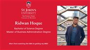 Ridwan Hoque - Master of Business Administration Degree