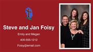 Steve and Jan Foisy - Steve and Jan Foisy - Emily and Megan - 405-555-1212 - Foisy@email.com